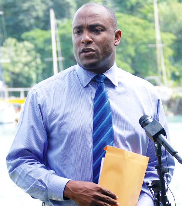 Sports Minister Shawn Edward (Photo Anthony De Beauville)