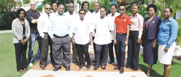 The participating chefs with their sponsors.