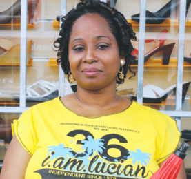 For many Saint Lucians, patriotism is tantamount to walking in Fair Helen's shoes everyday. [Photo: Stan Bishop]