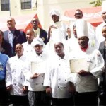 Recently trained chefs ready for the job market.