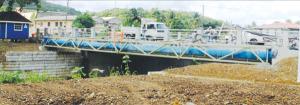 A photo of the Bois d'Orange Bridge taken last Friday. [Photo: Stan Bishop]