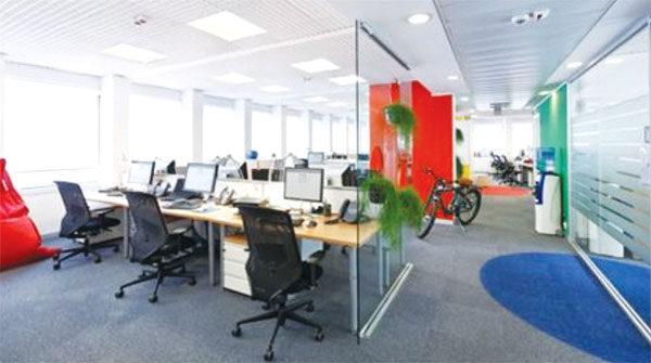 Office decor can have an impact on employee productivity.