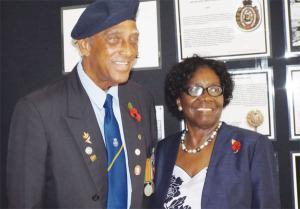 War Veteran Reginald Cherubin poses with G.G.