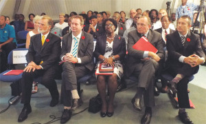 Governor General joined by French, British and German Ambassadors and Alliance Franciase director.