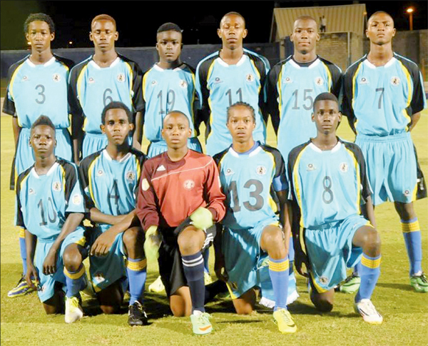 St. Lucia under - 17 football team (Photo Anthony De Beauville)