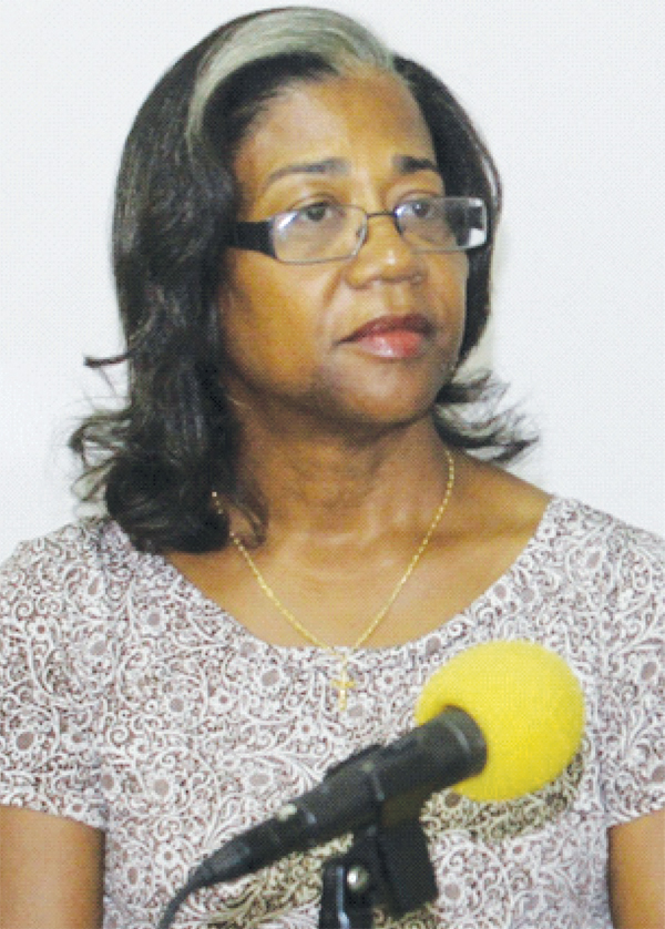 Image of Minister for Health and Wellness, Senator Mary Isaac. [Photo: Stan Bishop]