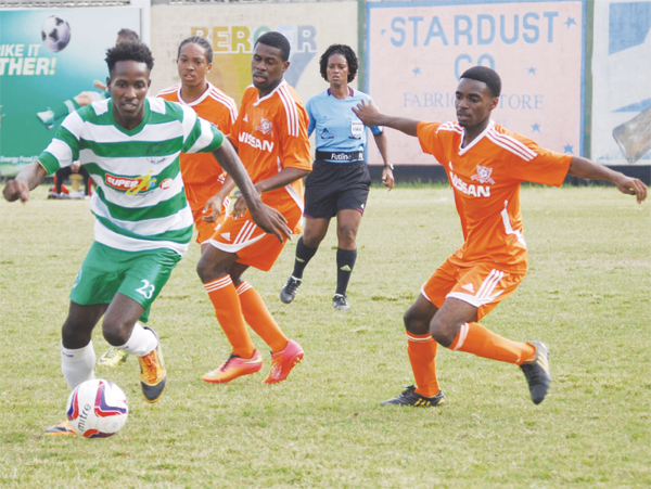 Northern United player Eden Charles continue to break free against VSC. (PHOTO: Anthony De Beauville)