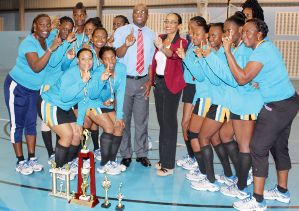 OECS Under 23 Netball Champions St. Lucia (Photo Anthony De Beauville)