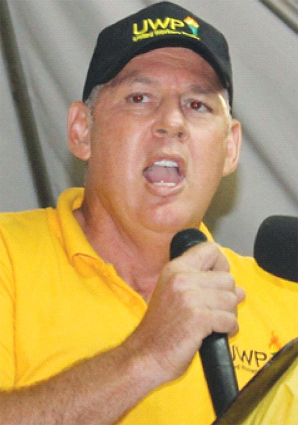 UWP Political Leader, Allen Chastanet [Photo: Stan Bishop]