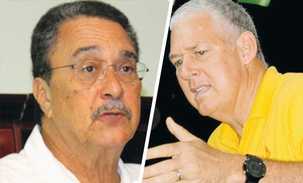 Prime Minister Dr. Kenny Anthony & UWP Political Leader Allen Chastanet [Photos: Stan Bishop]