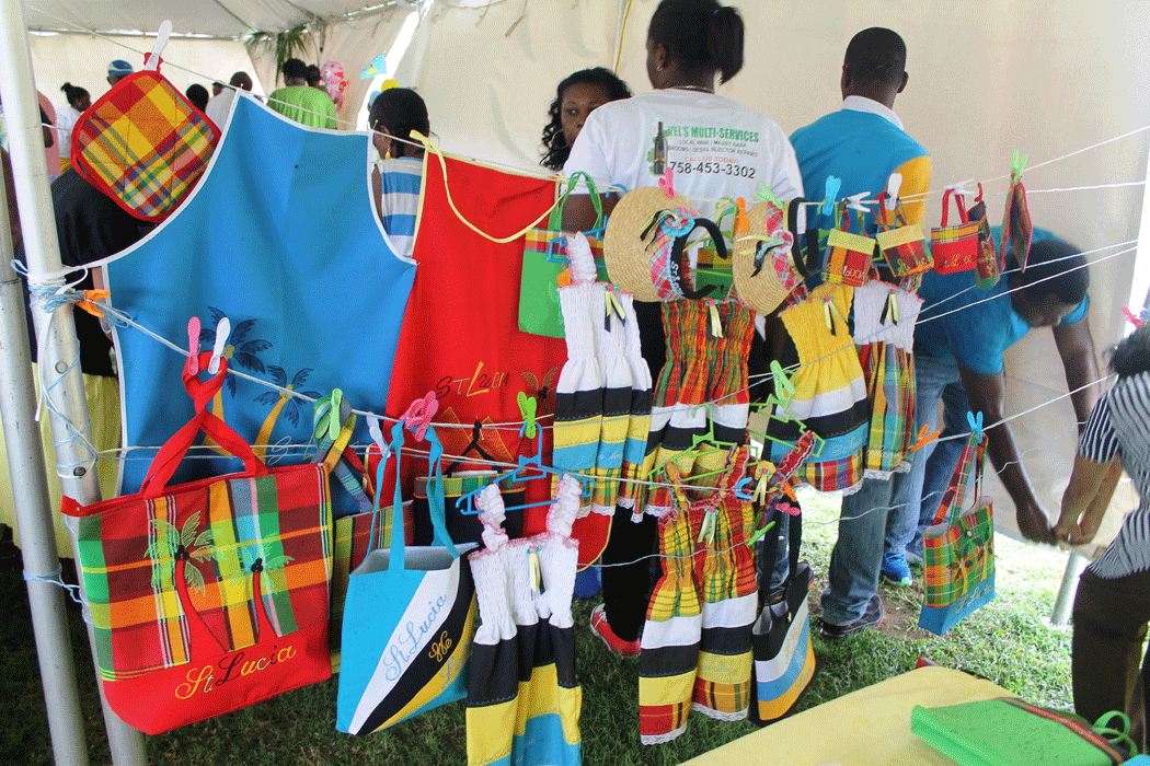 Local craft on display at Vieux Fort last Sunday.