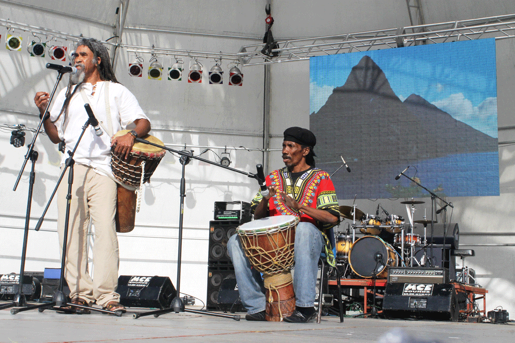 Acclaimed poet/director KendelHippolyte and musician Niger Nestor getting poetic.