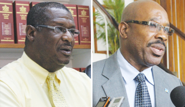 CASTRIES North MP, Stephenson King and Castries Central MP, Richard Frederick