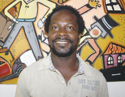 Image of  Saint Lucian Artist, Gary Butte