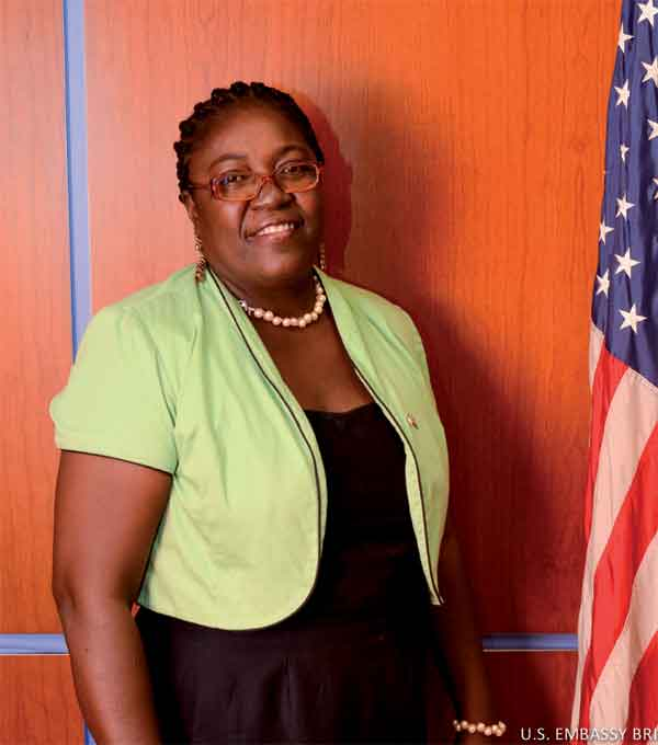 Basilla Joseph, Principal of the Vieux Fort Special Education Centre in St. Lucia is participating in the U.S. Department of State's International Visitor Leadership Programme.