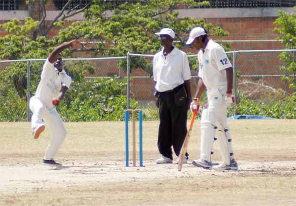 Gros Islet left arm orthodox left arm spinner Millan David finished with 7 for 26 against Anse la Raye (Photo: Anthony De Beauville)