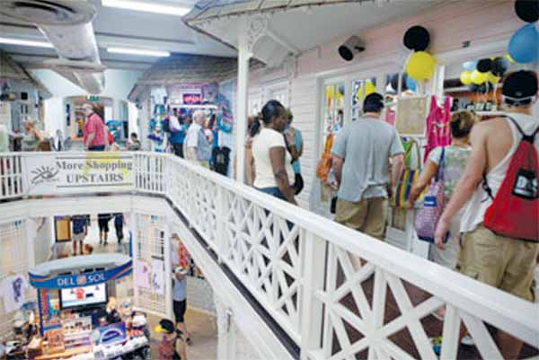 Tourists shopping in Castries