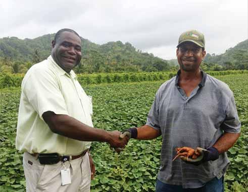 Image: CFL's Dunstan Denville (left)... his direct farm intervention producing results.