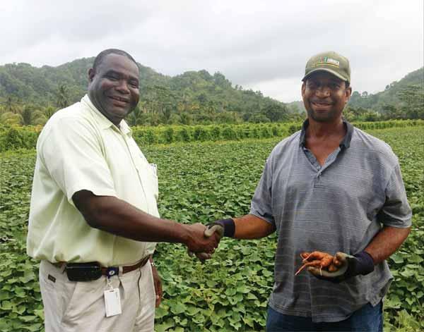CFL's Dunstan Denville (left)... his direct farm intervention producing results.