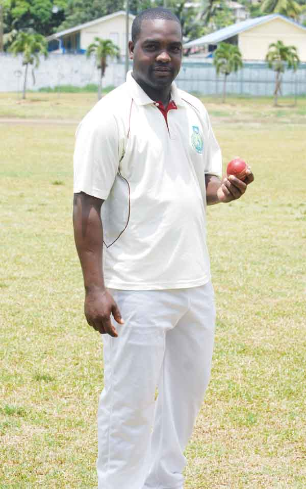 Image: Central Castries Alleyn Prospere scored 60 and picked up 2 wickets for 8 runs. [Photo: Anthony De Beauville]