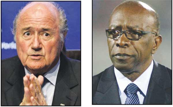 Image: Blatter[Left]  warner [Right]