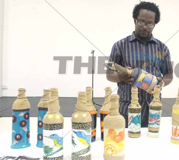 Image: Gary Butte has a message in a bottle for you.