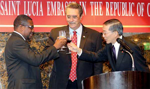 Image: Toasting the opening of the new embassy
