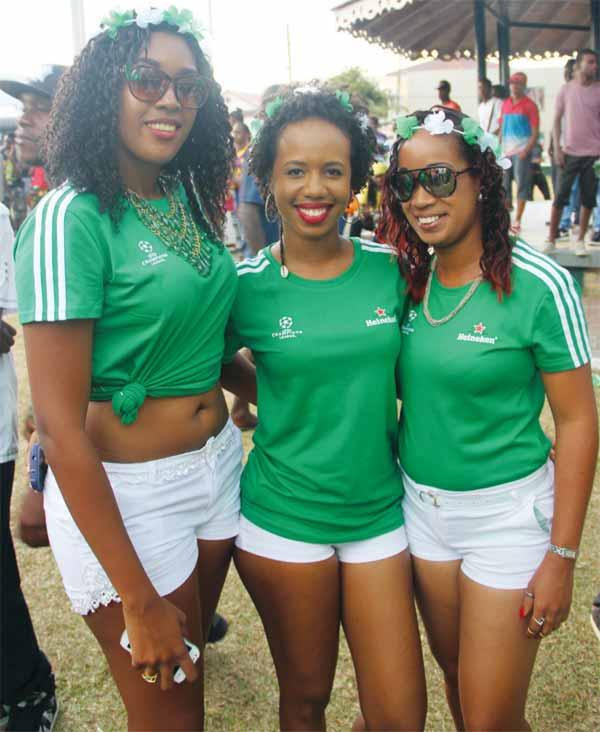 Image: The Heineken ladies brightened up the day's event