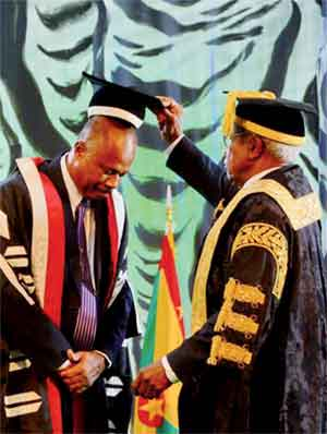 Sir Hilary is formally installed