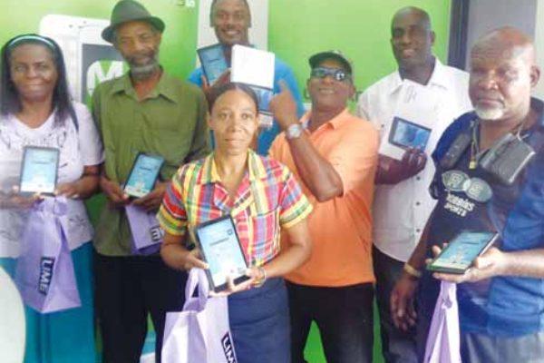 Image: LIME customers who won prizes
