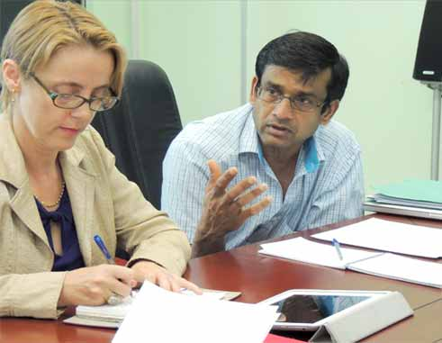 Image: Gender Specialist Caroline Allen and lead Consultant Ramesh Chaitoo
