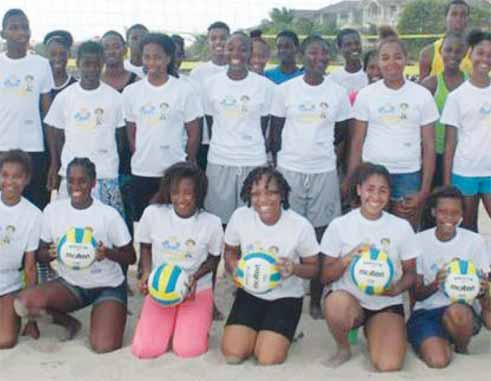 Image: Some of the participants from the various schools take time out for a photo moment. (Photo: SLVA)
