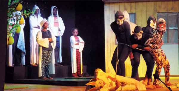 A dramatic scene from the play