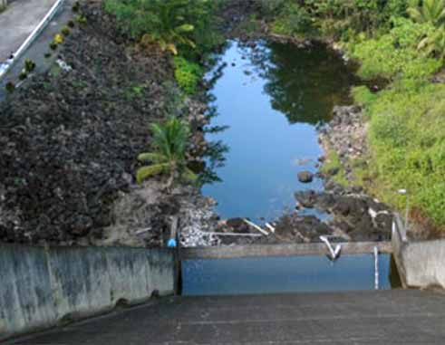 Image: Siltation at the John Compton dam