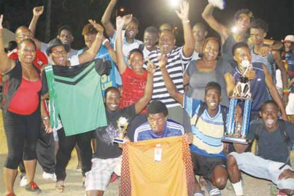 Image: 2015 champions Piton Travel Young Stars, players and sponsor. [PHOTO: Anthony De Beauville]