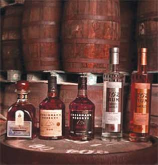 Some of the products from St. Lucia Distillers.