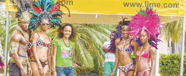 Image of LIME Ambassador, Roxanne Didier with Toxik carnival band