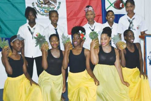 Students of the George Charles and Marigot Secondary Schools