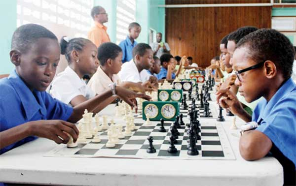 Students participating in this year's chess tournament. (Photo: Stan Bishop)