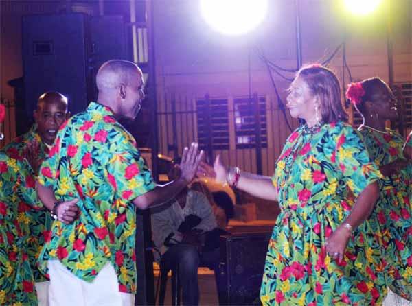 St. Lucians dancing away