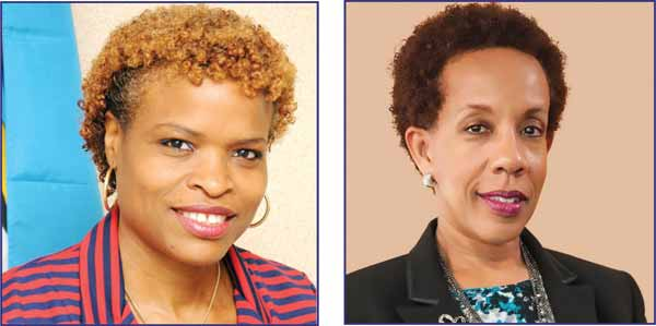 [L-R] FC Regional Manager Carole Eleuthere Jn Marie, FC Duty CEO Sharon Christopher