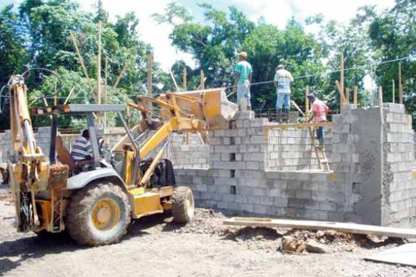 Construction project in progress