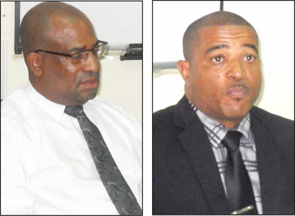 Andre Collymore [Left] Milton Desir [Right]