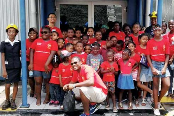 Librarians, staff and participants of the Gros Islet and Monchy Public Library during their visit to LUCELEC.