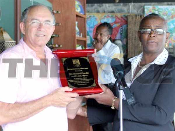 (L-R) CYG Local Organizing Committee Chairman Richard Peterkin and SLOC President Fortuna Belrose (Photo: Anthony De Beauville)