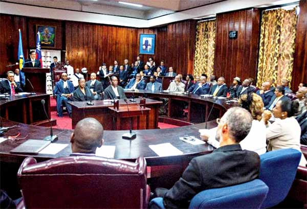St. Lucia parliament in session