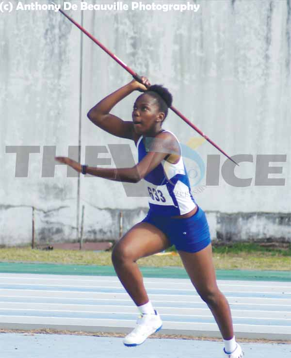 Bronze medal in javelin and silver in the shot putt for Rochelle Etienne(Photo: Anthony De Beauville)
