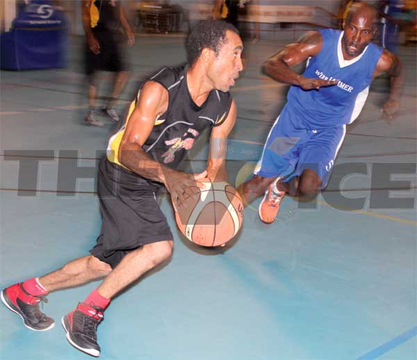 Renwick Kim Henry in action against Windjammer Landing on Wednesday evening. (Photo: Anthony De Beauville)