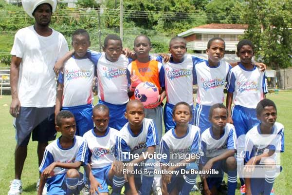 Image: Big Players Under-13's 2-0 win over SuperJ Boboville.. (PHOTO: Anthony De Beauville)
