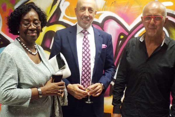 Image: Dame Pearlette with Ambassador Lopez de Turiso and Orbon